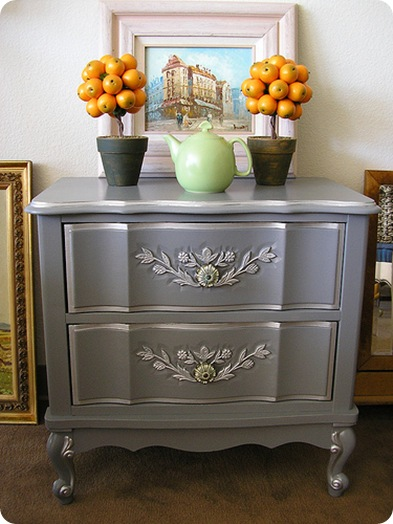 gray and silver nightstand creative.ly