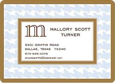 houndstooth business card
