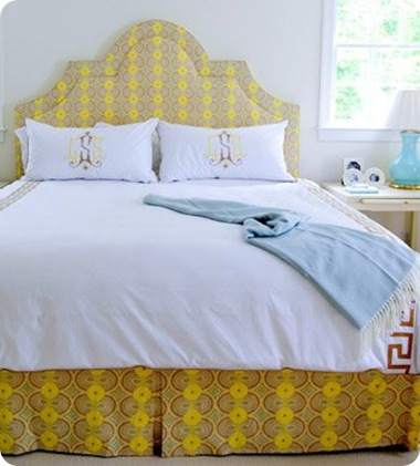 palmer weiss yellow headboard via la dolce vita