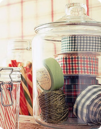 ribbons in jar country living