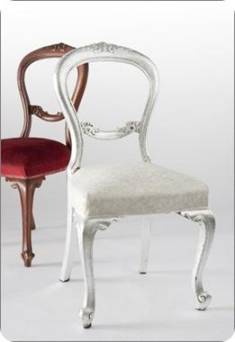 tara dennis silver leaf chair