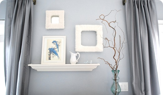 yarn wrapped frames with branches