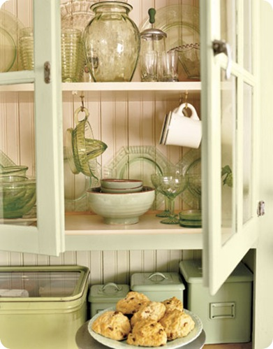 country living green glassware