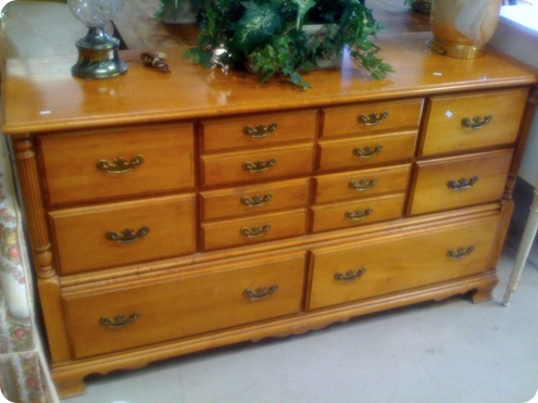 honey dresser with drawers