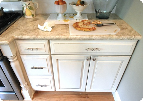 kemper cabinets with pizza