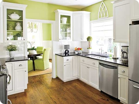 laurey glenn my home ideas green and white kitchen