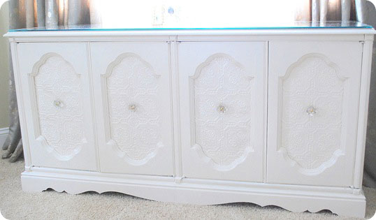 wallpaper panels sideboard