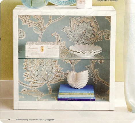 bhg wallpaper lined bookcase