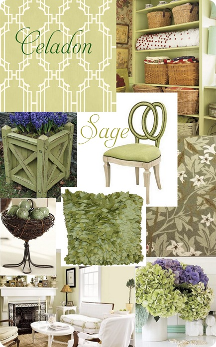 celadon sage collage