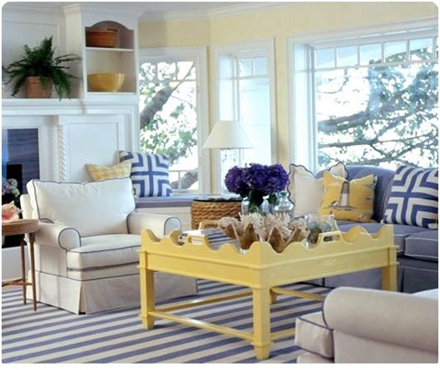 coastal living yellow coffee table