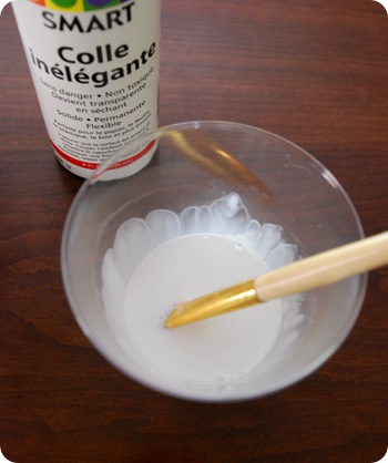 craft glue and water