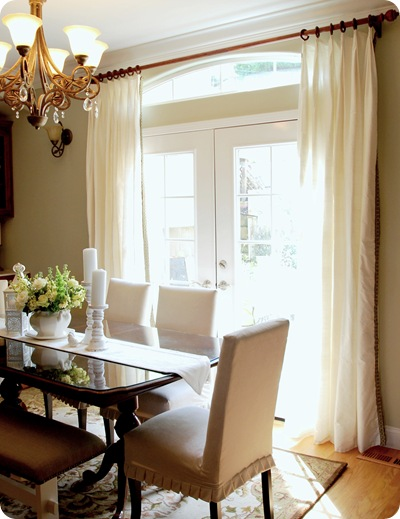 dining room window panels