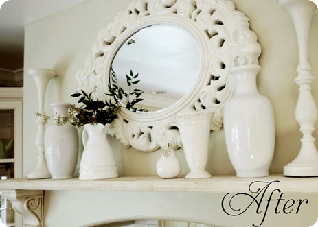 kitchen mantle mirror