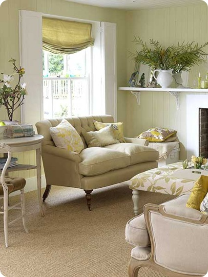 pale yellow accents via my home ideas all you