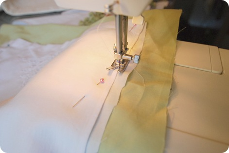 sew towel to accent