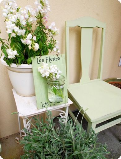 spring greens and chair
