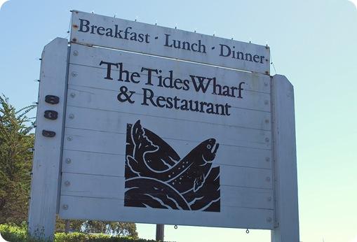 tides wharf sign