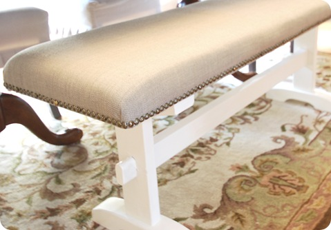trestle bench with nailheads