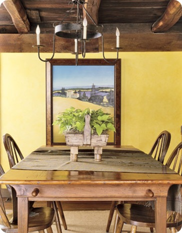 warm yellow wall country living