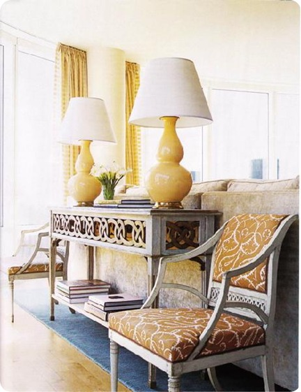 yellow lamps house beautiful