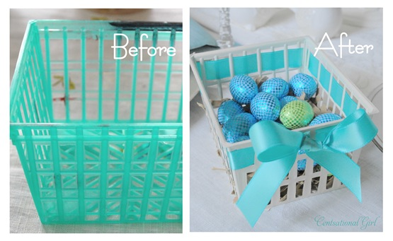 baskets before and after