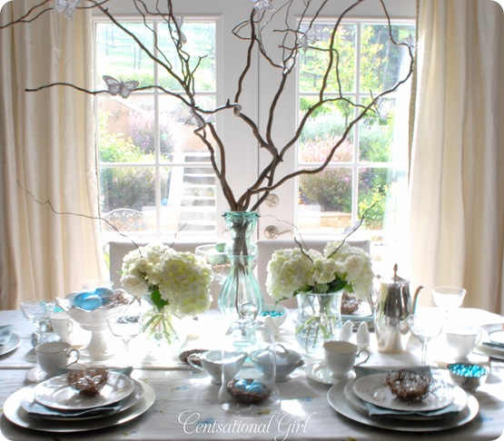 Blues and branches a spring tablescape centsational girl
