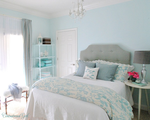 Turquoise girl s room project breakdown centsational girl - Pretty green rooms ...