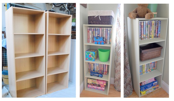 laminate shelves before and after