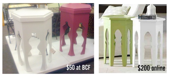 moroccan end tables
