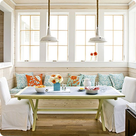 southern living orange and blue