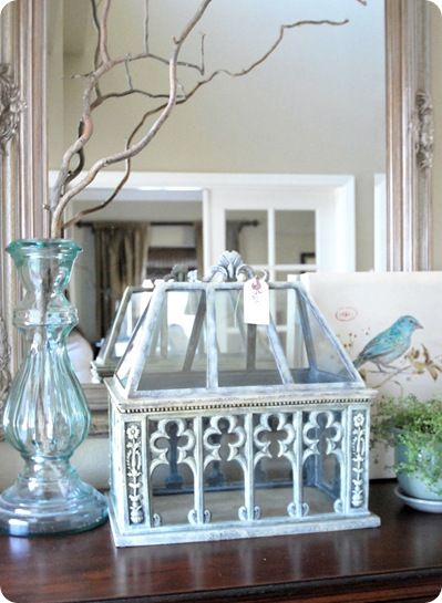 terrarium on highboy