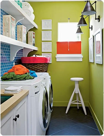 cottage living green walls laundry
