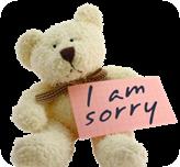 i am sorry bear