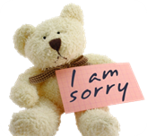 i am sorry bear