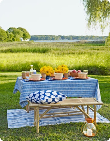 outdoor picnic country living