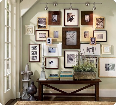 pottery barn gallery wall