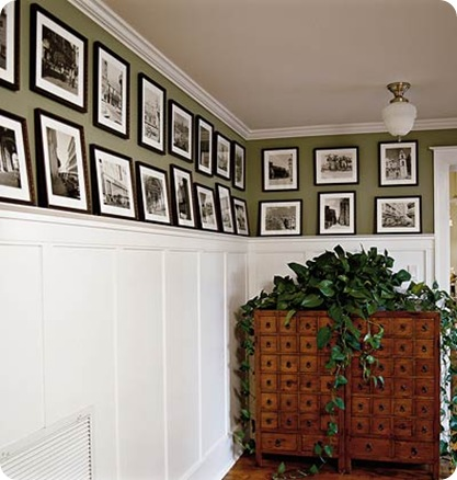 southern living wall of bw photos