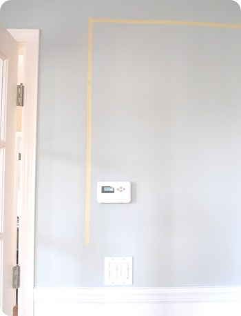 tape on wall