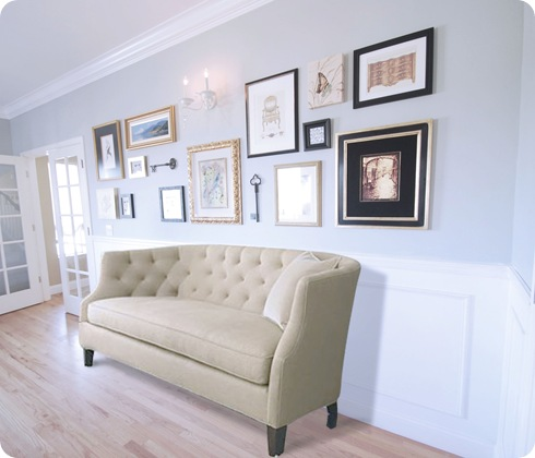 wall with sofa