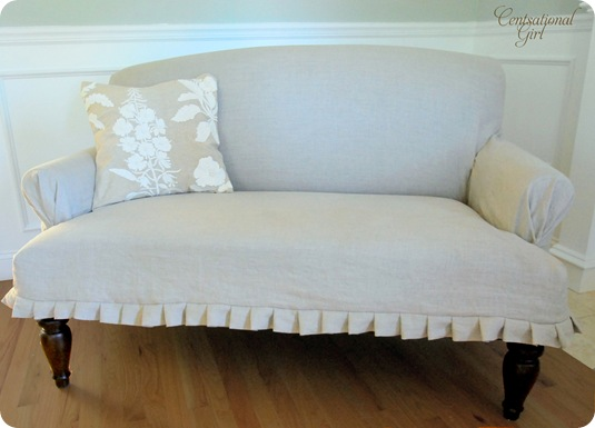 cg settee slipcovered