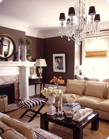 house beautiful chocolate brown