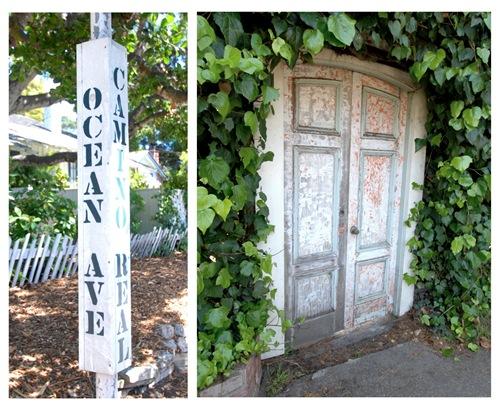 ocean and door