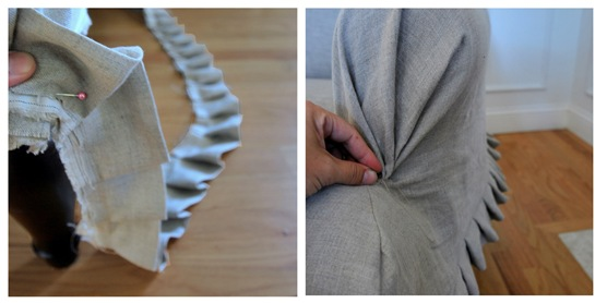 pin pleat stitch arm