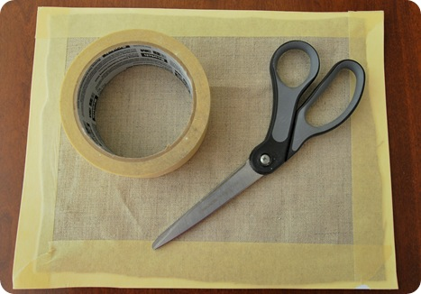 tape linen to cardstock