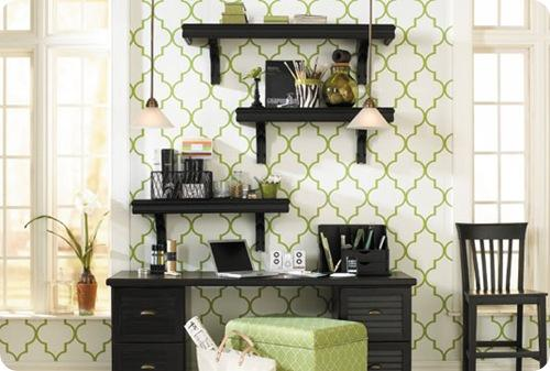 ballard trellis wallpaper