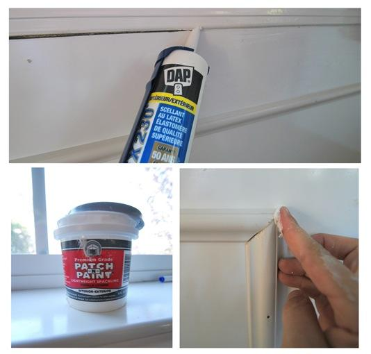 caulking plus spackling
