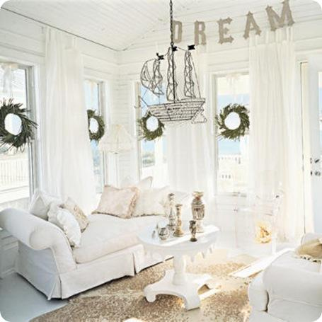 coastal living all white room christmas