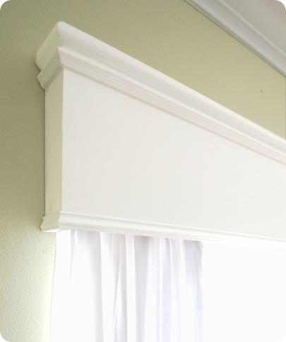 cornice corner detail above window