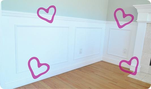 heart wainscoting