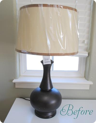 lamp before text